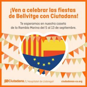 ¡Celebra las fiestas de Bellvitge con Ciutadans!
