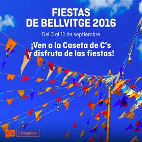 Disfruta del 3 al 11 de septiembre de las fiestas de Bellvitge en la caseta C's!