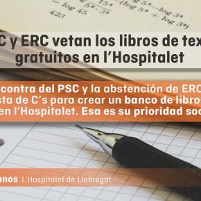 PSC y ERC vetan la propuesta de C's de crear bancos de libros de texto gratuitos en l'Hospitalet