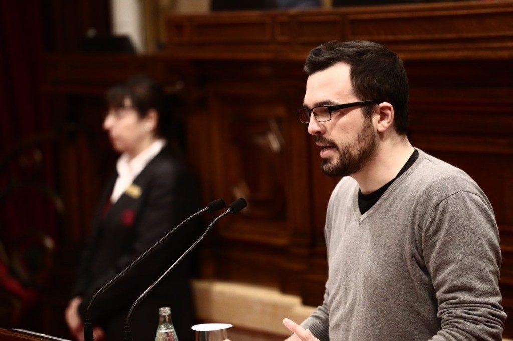 Sergio Sanz, diputado de Ciudadanos, durante una intervención en el Parlament