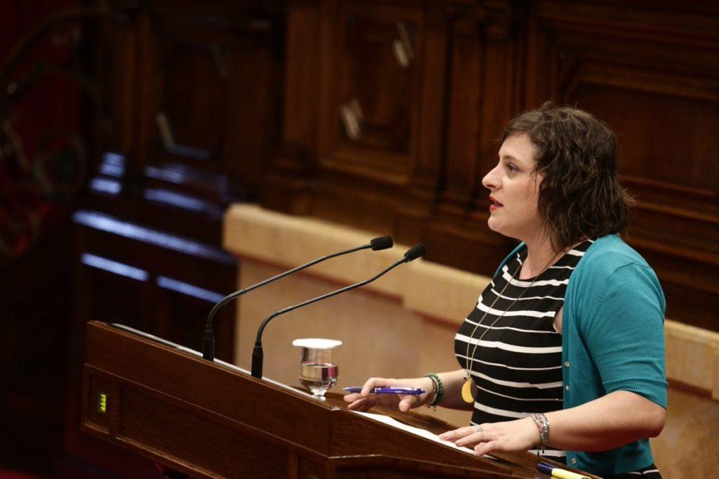 Noemí de la Calle, diputada de Ciudadanos, durante su intervención en el Parlament