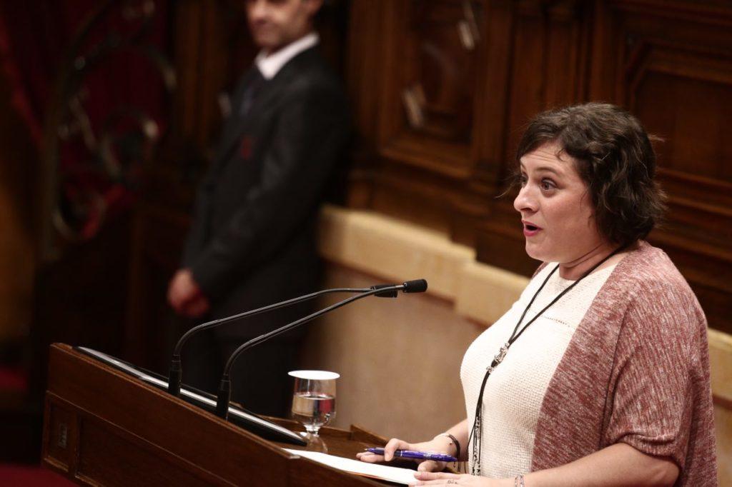 Noemí de la Calle, diputada de Cs y residente en l'Hospitalet, en el Pleno del Parlament