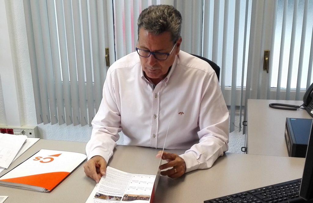 Miguel García, portavoz del Grupo municipal de Ciudadanos l'Hospitalet