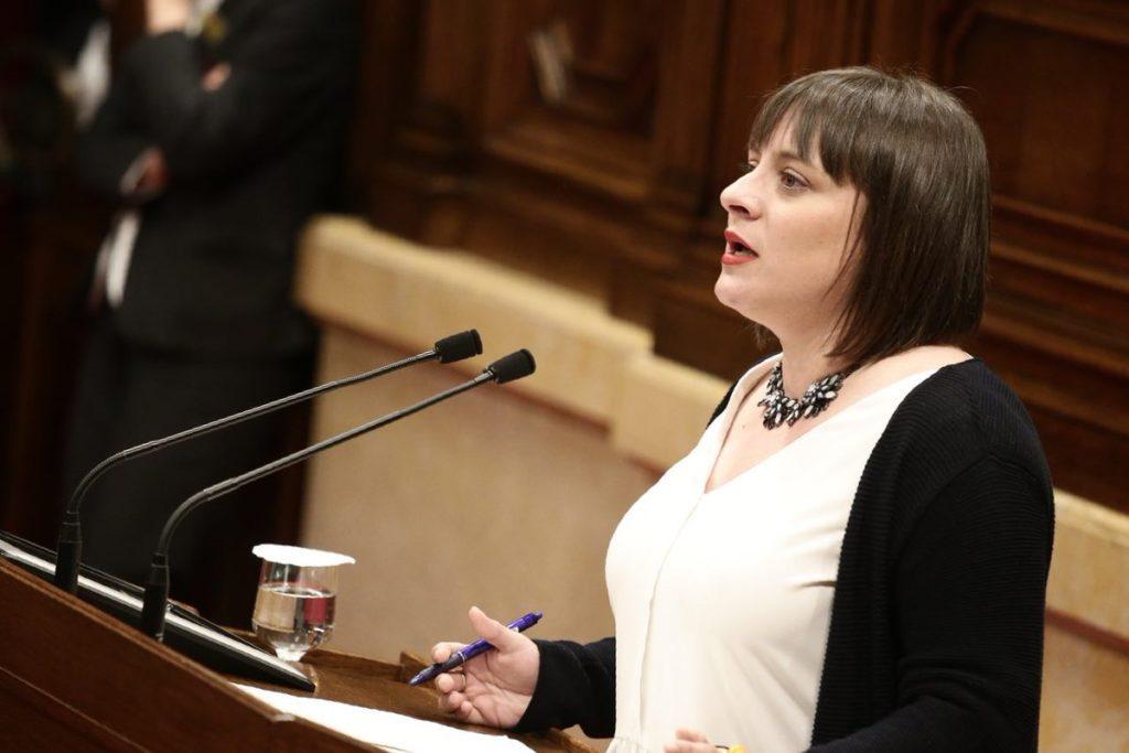 Noemí de la Calle, diputada de Cs, durante una intervención en el Parlament