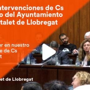 GALERÍA | Mira aquí las intervenciones de Cs en el Pleno de junio en el Ayuntamiento de l'Hospitalet