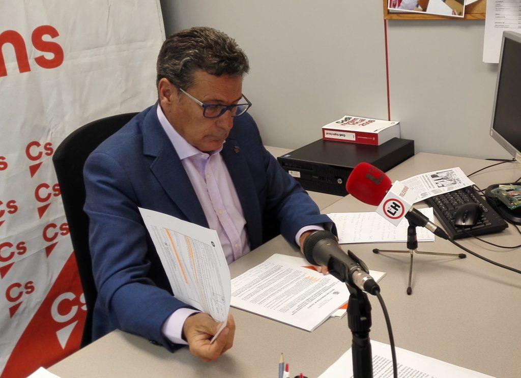 Miguel García, portavoz de Ciudadanos en el Ayuntamiento de l'Hospitalet de Llobregat