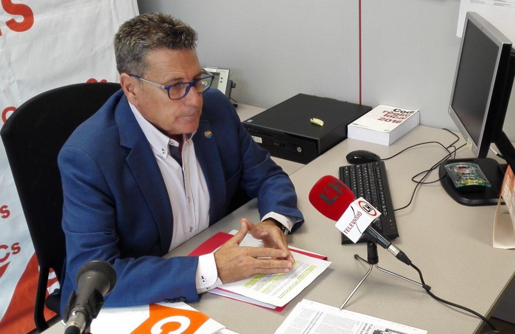 El portavoz de Cs en el Ayuntamiento de l'Hospitalet, Miguel García