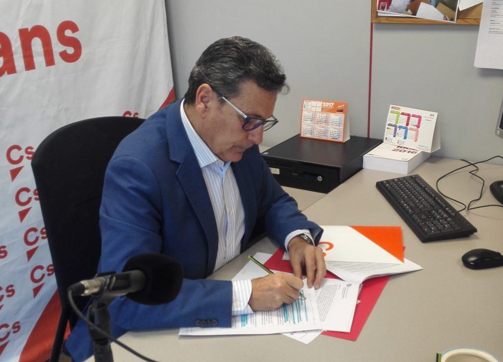 Miguel García, portavoz de Ciudadanos (Cs) en l'Hospitalet de Llobregat