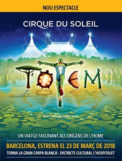 Cartel promocional del estreno del espectáculo 'Totem', del Cirque du Soleil