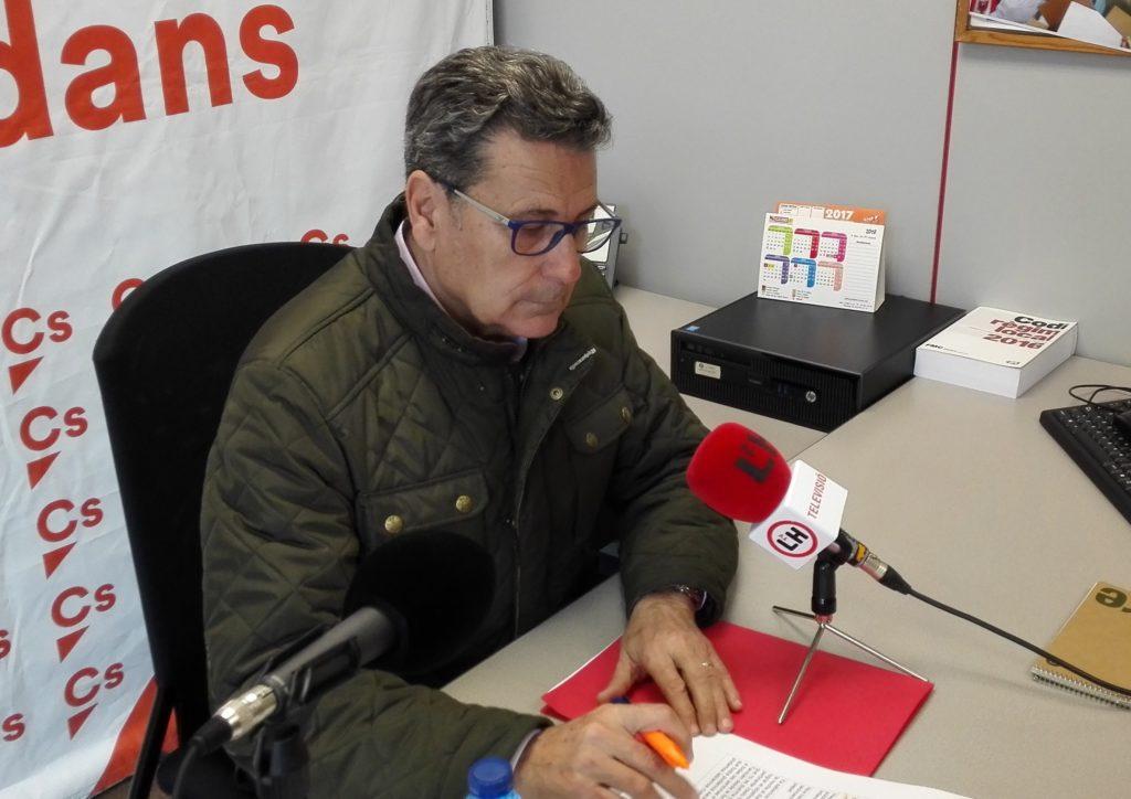 Miguel García, portavoz del Grupo municipal de Ciudadanos (Cs) en l'Hospitalet de Llobregat
