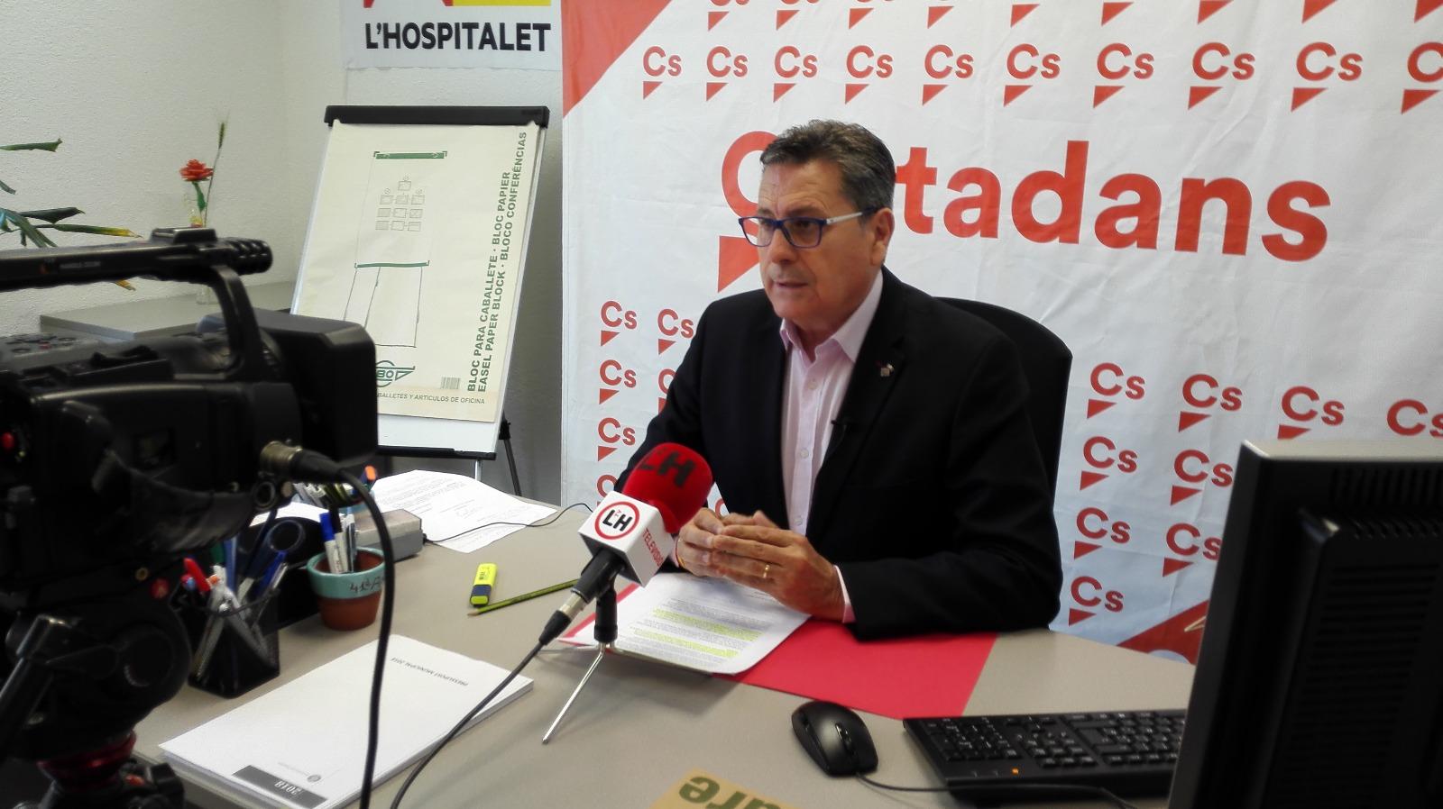 Miguel García, portavoz de Cs en l'Hospitalet de Llobregat