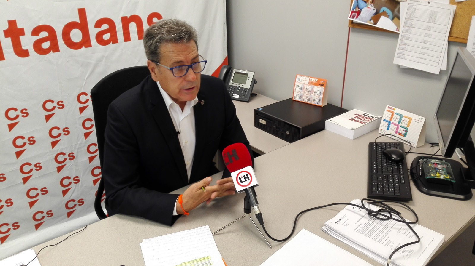 El portavoz de Ciudadanos (Cs) en el Ayuntamiento de l'Hospitalet de Llobregat
