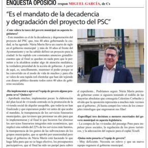 """""""Es el mandato de la decadencia y degradación del proyecto del PSC"""""""