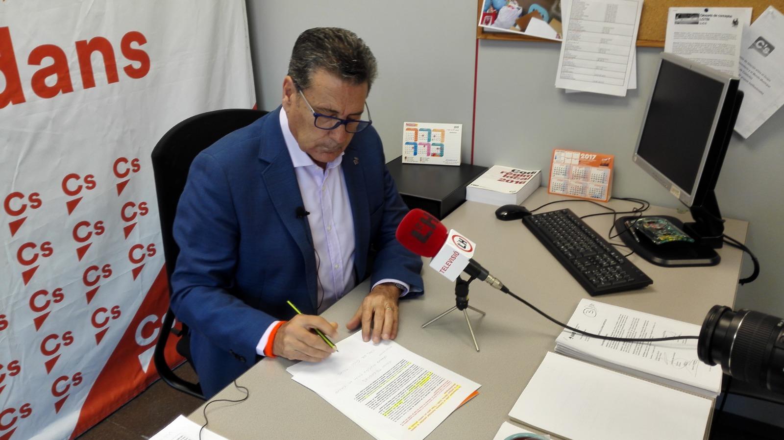 Miguel García, portavoz de Ciudadanos (Cs) en el Ayuntamiento de l'Hospitalet de Llobregat