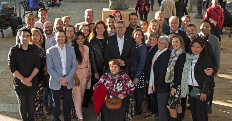 El equipo al completo de Ciudadanos (Cs) l'Hospitalet para las elecciones municipales