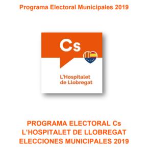 Programa electoral de Cs l'Hospitalet para las elecciones municipales de 2019
