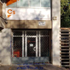 Ciudadanos denuncia un nuevo ataque a la sede del partido en L'Hospitalet de Llobregat