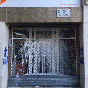 Ciudadanos denuncia el decimoséptimo ataque a la sede del partido en L'Hospitalet de Llobregat