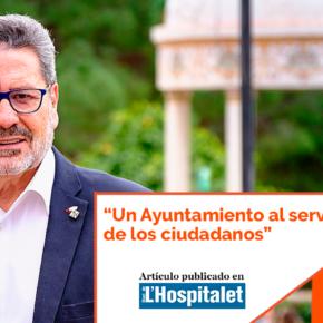 """""""Un Ayuntamiento al servicio de los ciudadanos"""" – artículo de Miguel García en el Diari de l'Hospitalet"""