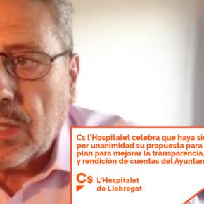 Cs l'Hospitalet celebra que haya sido aprobada por unanimidad su propuesta para elaborar un plan para mejorar la transparencia, eficiencia y rendición de cuentas del Ayuntamiento
