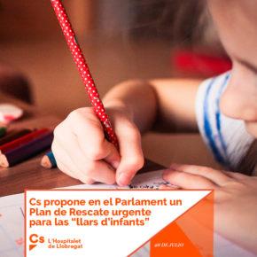 """Cs propone en el Parlament un Plan de Rescate urgente para las """"llars d'infants"""""""