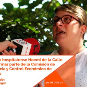La diputada hospitalense Noemí de la Calle vuelve a formar parte de la Comisión de Transparencia y Control Económico de Ciudadanos (Cs)