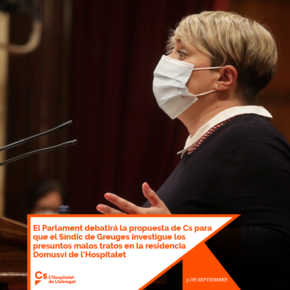 El Parlament debatirá la propuesta de Cs para que el Síndic de Greuges investigue los presuntos malos tratos en la residencia Domusvi de l'Hospitalet