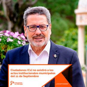 Ciudadanos (Cs) no asistirá a los actos institucionales municipales del Once de Septiembre