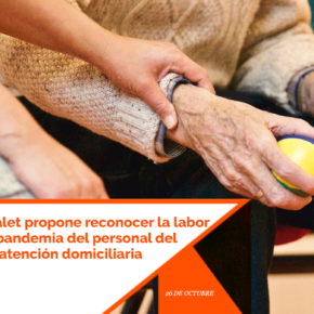 Cs l'Hospitalet propone reconocer la labor durante la pandemia del personal del servicio de atención domiciliaria