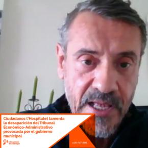 Ciudadanos l'Hospitalet lamenta la desaparición del Tribunal Económico-Administrativo local provocada por el gobierno municipal