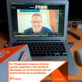 Cs l'Hospitalet propone ofrecer ayudas urgentes a los sectores afectados en el municipio por las restricciones de la pandemia