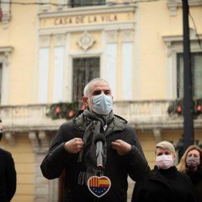 Rueda de prensa de Carlos Carrizosa en l'Hospitalet de Llobregat
