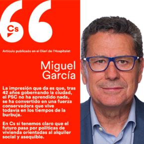 El PSC sigue anclado en los tiempos de la burbuja - artículo de Miguel García en el Diari de l'Hospitalet