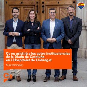 Cs no asistirá a los actos institucionales de la Diada de Cataluña en L'Hospitalet